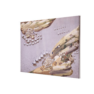 Battles for the Islands of Crete and Samos, plate Stretched Canvas Prints