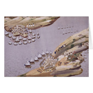 Battles for the Islands of Crete and Samos, plate Greeting Card