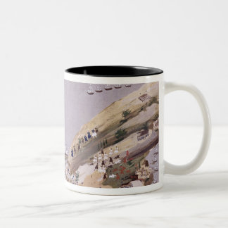 Battles for the Islands of Crete and Samos, plate Two-Tone Coffee Mug