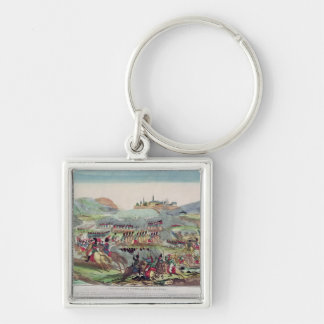 Battles of Wurtchen and Bautzen, 20th May 1813 Silver-Colored Square Keychain