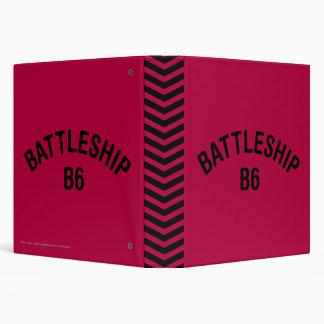 Battleship B6 Logo 3 Ring Binders