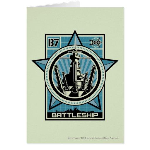 Battleship B7 Greeting Card