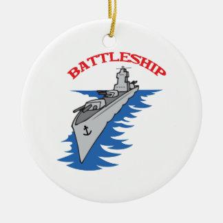 Battleship Ceramic Ornament