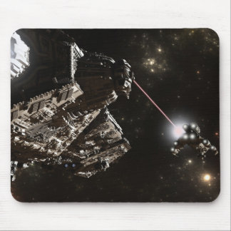 Battleship Chase Mouse Pads