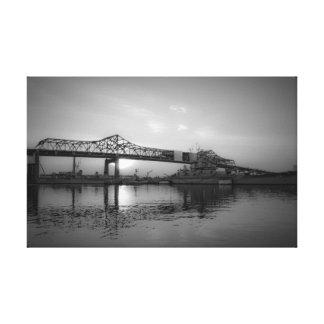 Battleship Cove, Fall River, MA Canvas Print