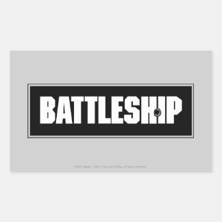 Battleship Dark Rectangular Sticker