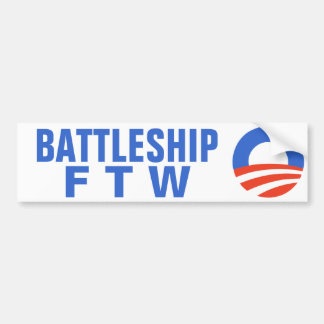 Battleship For The Win Obama 2012 Bumper Sticker