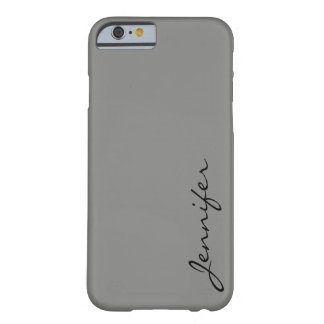 Battleship grey color background barely there iPhone 6 case