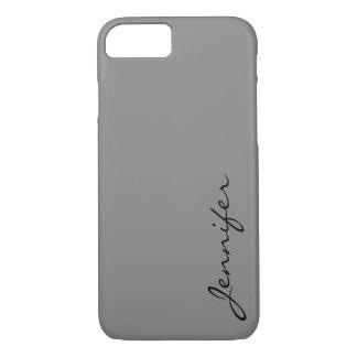 Battleship grey color background iPhone 7 case