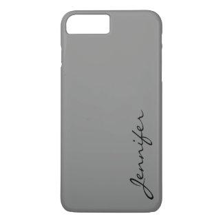 Battleship grey color background iPhone 7 plus case