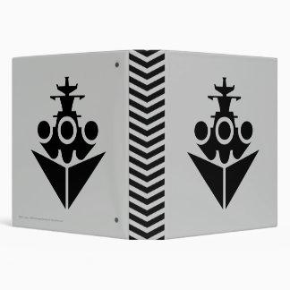 Battleship Icon 3 Ring Binder