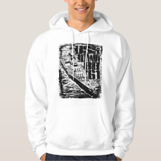 Battleship Iowa Men's Basic Hooded Sweatshirt