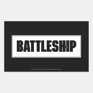 Battleship Light Rectangular Stickers