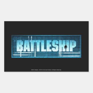 Battleship Logo Rectangular Sticker