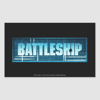 Battleship Logo Rectangle Sticker