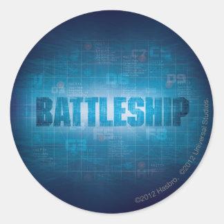 Battleship Naval 2 Classic Round Sticker
