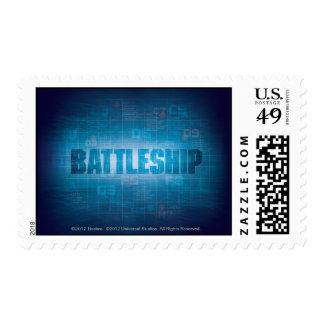 Battleship Naval 2 Postage Stamp