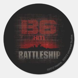 Battleship Naval 3 Classic Round Sticker