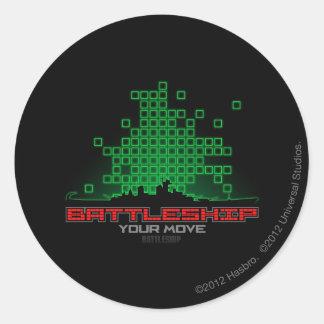 Battleship Naval 4 Classic Round Sticker
