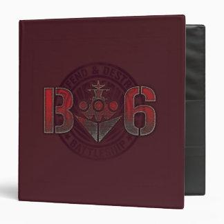 Battleship Naval 8 Vinyl Binder