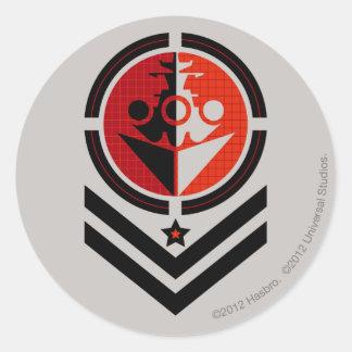 Battleship Propaganda Classic Round Sticker