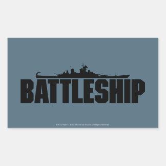 Battleship Rectangular Sticker