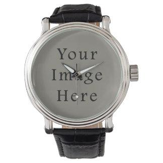 Battleship Steel Gray Color Grey Trend Template Wristwatch