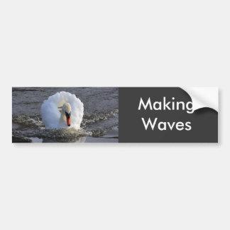 Battleship Swan Car Bumper Sticker