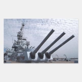 Battleship USS Alabama Rectangular Sticker