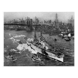 "Battleship USS Arizona poster 20"" x 26"""