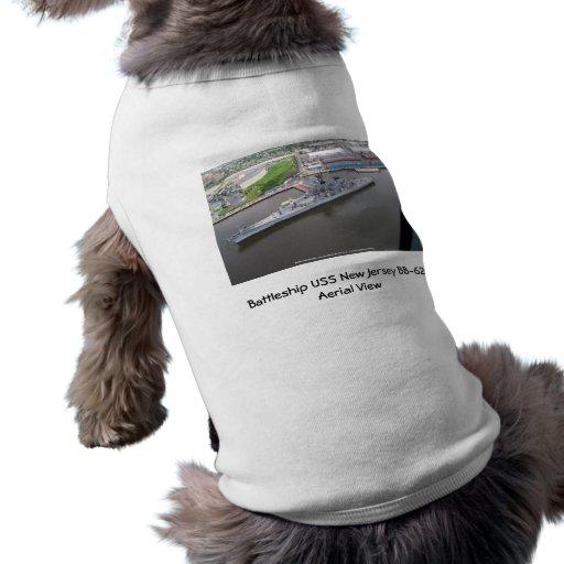 Battleship USS New Jersey BB-62 Aerial View Doggie Tee Shirt
