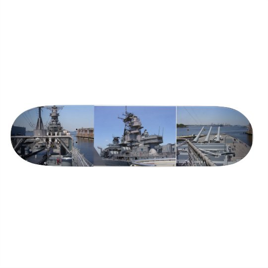 Battleship USS Wisconsin Skateboard Deck