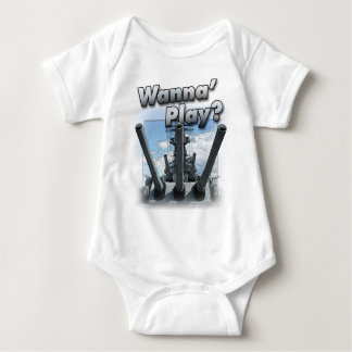 Battleship - Wanna Play? Baby Bodysuit