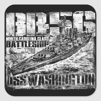 Battleship Washington Square Sticker