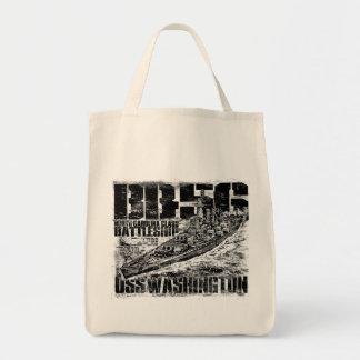 Battleship Washington Tote Bag