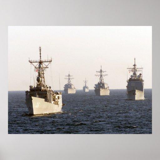 Battleships Navy Photo Poster