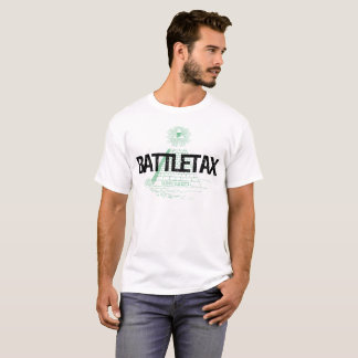 battletax pyramid black text T-Shirt