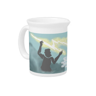 Battling Gods Beverage Pitcher