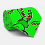 Battling green stag Japanese rhino beetles Neck Tie