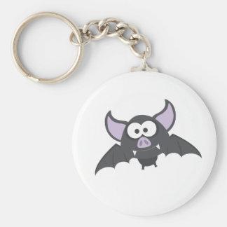 Batty Bat Basic Round Button Keychain