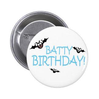 Batty Birthday Badge Pinback Button