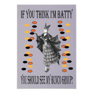 Batty Bunco 3.5x5 Paper Invitation Card