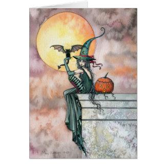 'Batty Cat' Halloween Card by Molly Harrison