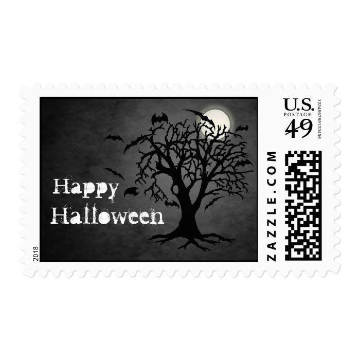 Batty Chilling Black Moon Halloween Postage