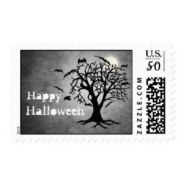 Halloween Themed Batty Chilling Silver Moon Halloween Postage