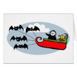Batty Christmas Sleigh Greeting Card