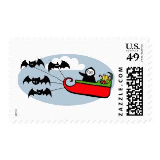 Batty Christmas Sleigh Postage