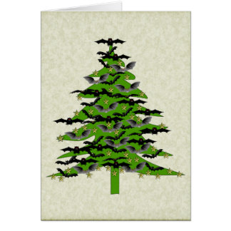 Batty Christmas Tree Card