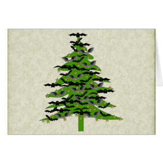 Batty Christmas Tree Card