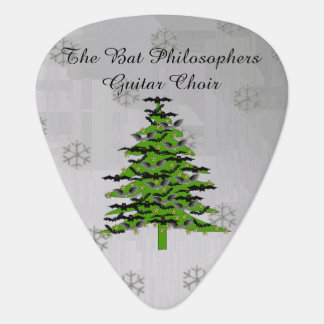 Batty Christmas Tree Guitar Pick